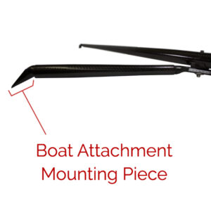 Carbon Boat Attachment Piece for Mounting Rigger