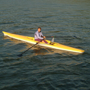 ECHO Open Water Rowing Shell with Folding Riggers