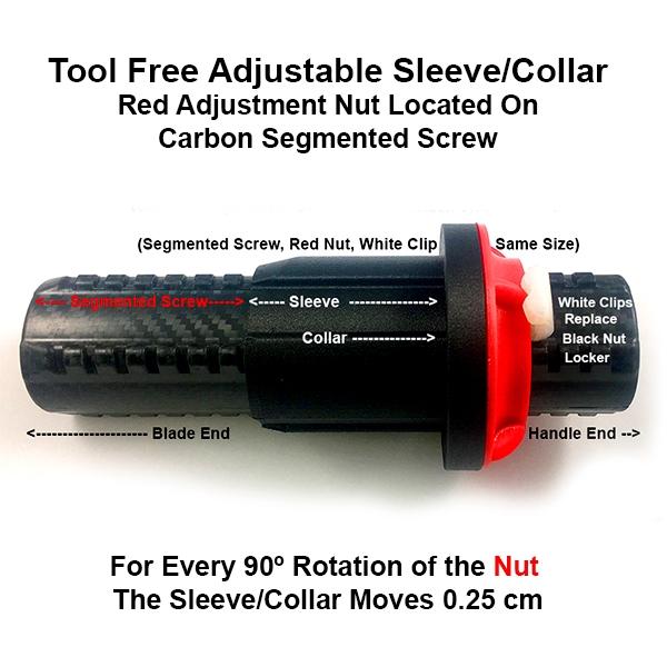 Tool Free Adjustable Sleeve/Collar